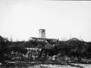 Pogled na zvonik romaničke crkve sv. Ilije u drugoj polovici 50-ih godina, Bale. (bn. 6894) Iz arhive Arheološkog muzeja Istre