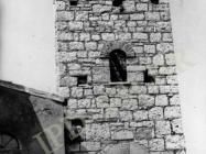 Zvonik crkve Blažene Djevice Marije krajem 70-ih godina, Banjole. (fn. 15685) Iz arhive Arheološkog muzeja Istre