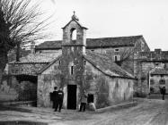 Crkva sv. Antuna  početkom 60-ih godina, Barban. (bn. 6832) Iz arhive Arheološkog muzeja Istre