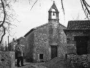 Crkva sv. Jakova početkom 60-ih godina, Barban. (bn. 6827) Iz arhive Arheološkog muzeja Istre