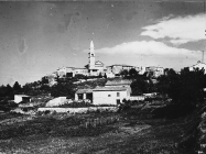 Pogled na Beram krajem 60-ih, Beram. (A. Orel, fp. 8381) Iz arhive Arheološkog muzeja Istre