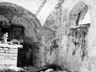 Ostaci freska u crkvi sv. Martina početkom 60-ih godina, Bičići. (bn. 6417) Iz arhive Arheološkog muzeja Istre