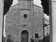 Pročelje crkve Svete Marije u Božjem polju početkom 80-ih godina, Božje polje. (fn. 18963) Iz arhive Arheološkog muzeja Istre