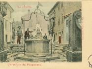 Cisterna u Buzetu početkom XX. st., Buzet. Iz arhive Zavičajno muzeja Buzeta.