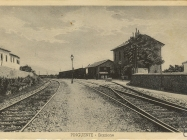 Željeznička stanica u Buzetu 1910. godine, Buzet. Iz arhive zavičajnoj muzeja u Buzetu