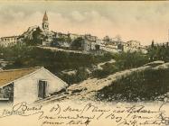 Panorama Buzeta početkom XX. stoljeća, Buzet. Iz arhive Zavičajnog muzeja u Buzetu