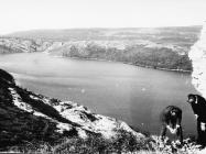 Pogled na Raški zaljev sa crkve sv. Agneze 1972. godine, Raški zaljev. (fn. 11919) Iz arhive Arheološkog muzeja Istre