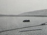 Vožnja isušenim Čepićkim jezerom  ljeti 1933., u Consorzio di bonifica del sistema dell'Arsa, Labin 1934.g.,38
