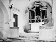 Unutrašnjost crkve sv. Justa 1986. godine, Galižana. (fn. 369) Iz arhive Arheološkog muzeja Istre
