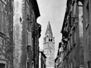 Pogled na zvonik crkve sv. Roka, Galižana. (foto Orel) Iz arhive Arheološkog muzeja Istre