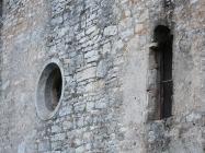 Prozori na pročelju crkve Svetog Justa. Galižana. Autor: Aldo Šuran (2010.)