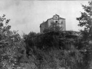 Pogled na crkvu sv. Petra na lokalitetu Tondolon 1950. godine, Juršići. (fp. 524) Iz arhive Arheološkog muzeja Istre