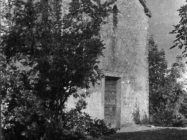 Pročelje crkve sv. Agate početkom 50-ih godina, Kanfanar. (fn. 1615) Iz arhive Arheološkog muzeja Istre