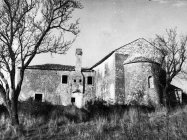 Crkva sv. Mihovila i samostan 1971. godine, Sveti Mihovil na Limu. (bn. 10746) Iz arhive Arheološkog muzeja Istre