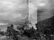 Pogled na kulu Turan početkom 50-ih godina, Koromačno. (fn. 766) Iz arhive Arheološkog muzeja Istre