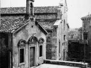 Crkva sv. Stjepana i crkva rođenja Marijinog 1972. godine, Labin. (fn. 11614) Iz arhive Arheološkog muzeja Istre