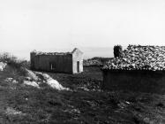 Pogled na crkvu sv. Mihovila krajem 50-ih godina, Labin. (fn. 5346) Iz arhive Arheološkog muzeja Istre