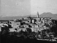 Pogled na grad s brda Svetog Mihovila krajem 50-ih godina, Labin. (fn. 5464) Iz arhive Arheološkog muzeja Istre