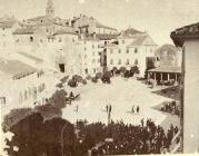 Početak gradnje današnje zgrade općine 1886. godine. www.labin.com