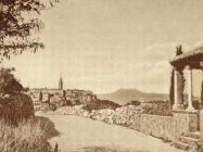 Pogled na Labin i Učku s crkvice Svete Magdalene, 1925.god. www.labin.com