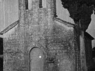Crkva Presvetog Trojstva u Brnasima 1952. godine, Labinci. (fn. 2305) Iz arhive Arheološkog muzeja Istre