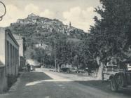 Ulice Motovuna 30-ih godina XX. st., Motovun.  Iz arhive Zavičajnoga muzeja Buzeta