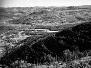 Pogled na Motovun s brda iznad Livada početkom 70-ih godina, Motovun. (bn. 10990) Iz arhive Arheološkog muzeja Istre