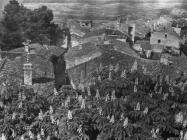 Pogled na predgrađe Motovuna  početkom 50-ih godina, Motovun. (fn. 1162) Iz arhive Arheološkog muzeja Istre