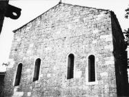Začelje crkve sv. Marije Magdalene 1967. godine, Mutvoran. (bn. 8622) Iz arhive Arheološkog muzeja Istre