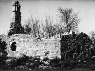 Crkva sv. Jakova kod Cukona sredinom 80-ih godina, Mutvoran. (fn. 19652) Iz arhive Arheološkog muzeja Istre