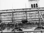 Radovi na sjevernom zidu  župne crkve sv. Pelagija i sv. Maksima u Novigradu 1972. godine. Novigrad (fn. 11842c)  Iz arhive Arheološkog muzeja Istre