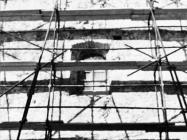 Radovi na sjevernom zidu  župne crkve sv. Pelagija i sv. Maksima u Novigradu 1972. godine. Novigrad (fn. 11892a)  Iz arhive Arheološkog muzeja Istre
