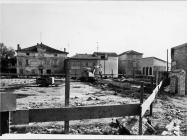 Područje radova na trgu pored župne crkve sv. Pelagija i sv. Maksima u Novigradu 1991. godine. Novigrad (fn. 24946.) Iz arhive Arheološkog muzeja Istre