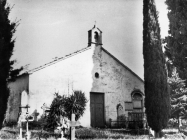 Pogled na crkvu sv. Agate u Novigrad 1972. godine. Novigrad (fn. 11844.) Iz arhive Arheološkog muzeja Istre