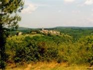 Pogled na Oprtalj sa sjeveroistoka 90-ih godina. Oprtalj (fn 35634.) Iz arhive Arheološkog muzeja Istre