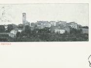Pogled na Oprtalj krajem XIX. st. Oprtalj. Iz arhiva Zavičajnog muzeja u Buzetu