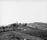 Pogled na Stari Pazin s groblja 1957. godine, Pazin. (fn. 4325) Iz arhive Arheološkog muzeja Istre