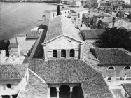 Eufrazijeva bazilika u drugoj polovici 60. godina, Poreč. (fn. A. Orel, fp. 8366) Iz arhive Arheološkog muzeja Istre