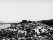 Pogled na stari kaštel i crkvu sv. Agneze 1972. godine, Rakalj. (fn. 11922) Iz arhive Arheološkog muzeja Istre
