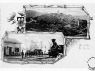 Panorama Roča i željeznička postaja početkom XX. st., Roč. Iz arhive Zavičajnog muzeja Buzeta.