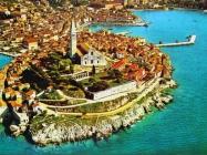 Zračni snimak Rovinja, Rovinj. (fn. 8346) Iz arhive Arheološkog muzeja Istre