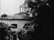 Pogled na samostan i crkvu sv. Andrije na Crvenom otoku kod Rovinja 1953. godine, Rovinj. (fn. 2268) Iz arhive Arheološkog muzeja Istre