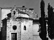 Romanička crkva sv. Trojstva krajem 40-ih godina, Rovinj. (fn. 433) Iz arhive Arheološkog muzeja Istre