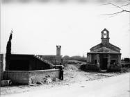 Pogled na crkvu sv. Katarine sa zapada 1973. godine, Savičenta. (fn. 12014) Iz arhive Arheološkog muzeja Istre