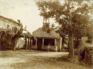 Crkva sv. Roka početkom 20. stoljeća prije rušenja lopice, Savičenta. (fp. 575) Iz arhive Arheološkog muzeja Istre
