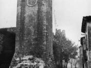 Jugoistočna kula kaštela Morosini-Grimani 1970. godine, Savičenta. (bn. 9001 b) Iz arhive Arheološkog muzeja Istre