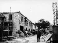 Dvorište stancije Sorna tijekom rekonstrukcije 1971. godine, Sorna. (bn. 10327) Iz arhive Arheološkog muzeja Istre