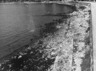 Antički zid uz more sredinom 50-ih godina, Umag. (fn. 4101) Iz arhive Arheološkog muzeja Istre