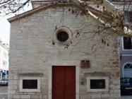 Pročelje, crkva Svetog Roka, sagrađena 1514. godine. Umag. Autor: Aldo Šuran (2010.)