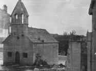 Crkva Svetog Antuna Pustinjaka iz 14. stoljeća 1952. godine, Višnjan. (fn. 2303) Iz arhive Arheološkog muzeja Istre